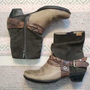 Pikolinos 40 Leather/Suede Roper ankle boots